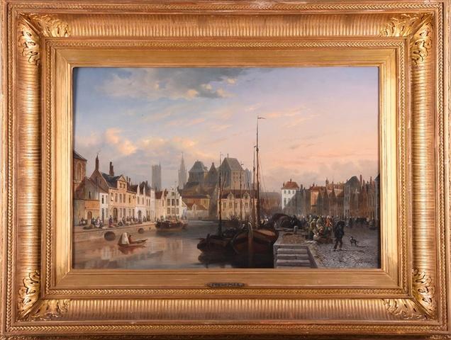 Gezicht op de Lievekaai te Gent
