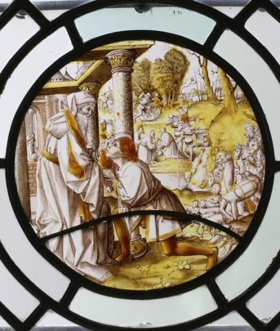 De geschiedenis van Abraham: Een bode vertelt Abraham de gevangenname van Lot