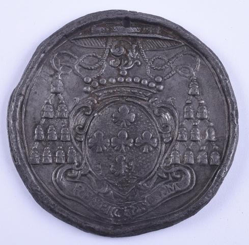 Overlijdenspenning van Vander Noot 15de bisschop van Gent, 1770