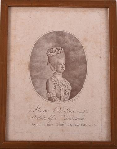 Portret van aartshertogin Maria Christina, landvoogdes van de Oostenrijkse Nederlanden