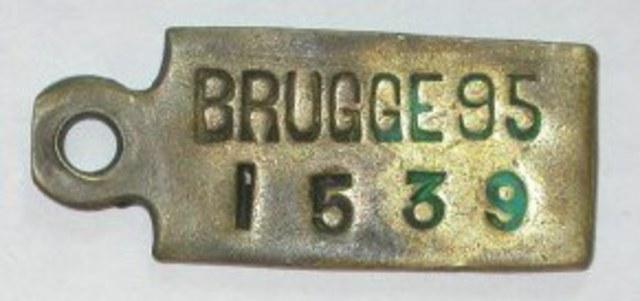 Hondenpenning  Brugge, 1895