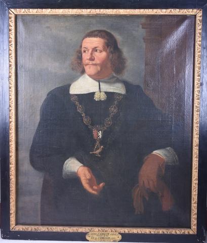Portret van een koning van het Sint-Sebastiaansgild te Gent