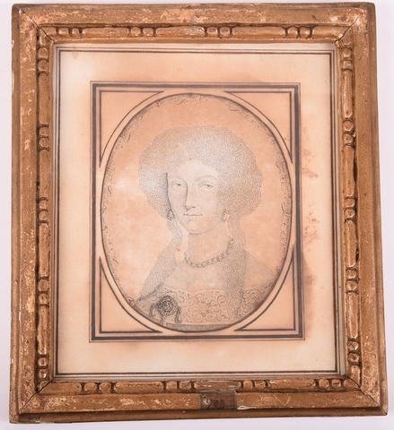 Busteportret van Eleonora Magdalena Theresia, keizerin van Duitsland, echtgenote van Leopold I