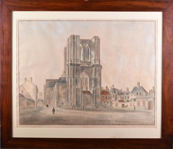 Sint-Michielskerk te Gent  ca. 1820