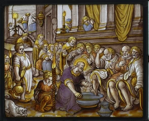 Voetwassing van Petrus, Jezus wast de voeten van zijn leerlingen
