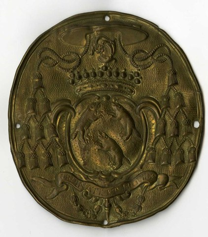 Insigne met wapenschild van Govard Gerard Van Eersel