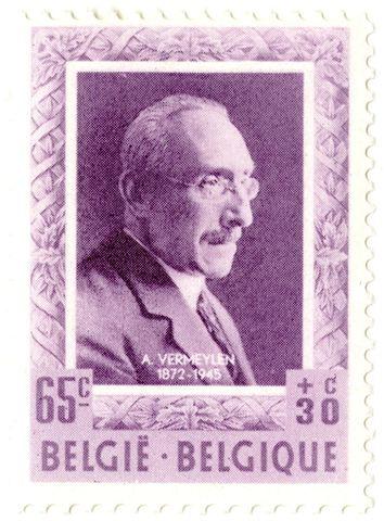 Postzegel met portret van August Vermeylen