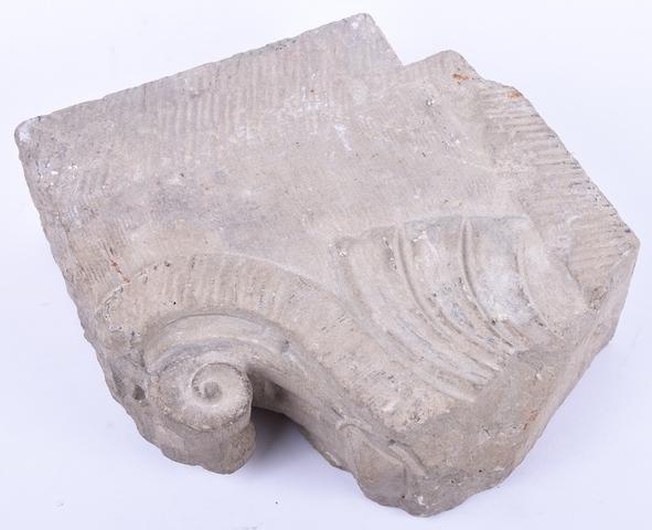 Fragment van een kapiteel, afkomstig van de Bijloke abdij