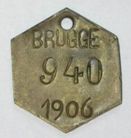 Hondenpenning Brugge, 1906