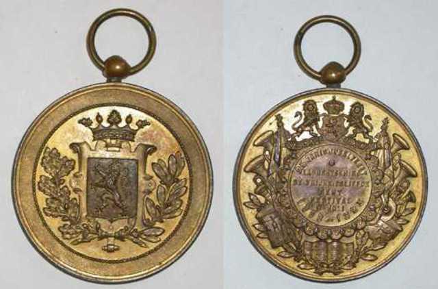 Gedenkpenning 25-jarig jubelfeest van de Laurentskring, 1893