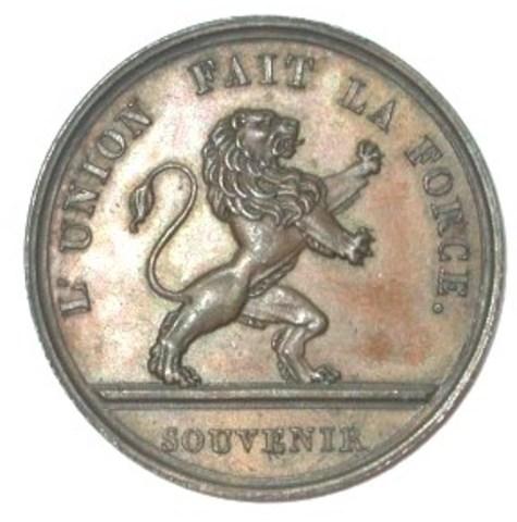 Gedenkpenning aan de toespraak en eedaflegging van Leopold I, 1831