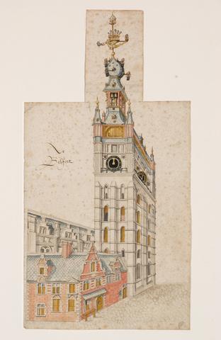 Belfort, lakenhalle en het huis van de uurwerkmaker te Gent