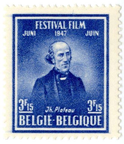 Postzegel met portret van Joseph Plateau