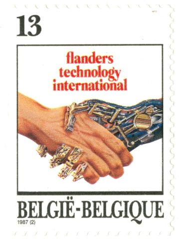 Postzegel Flanders Technology