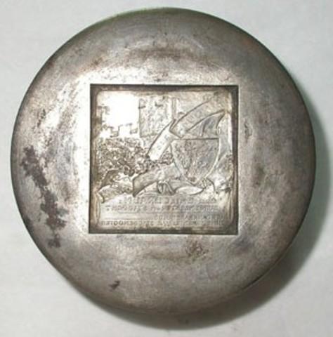 Keerzijdematrijs voor de erepenning aan Emile Braun, 1914