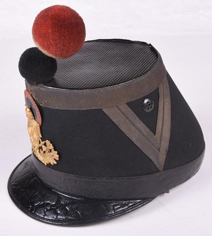 sjako, van een genie - officier, voor 1902  (insigne idem 13.453)