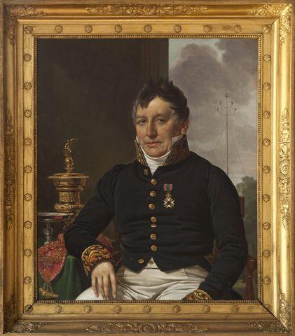 Portret van Joseph van Crombrugghe, burgemeester van Gent en koning van de Sint-Jorisgilde