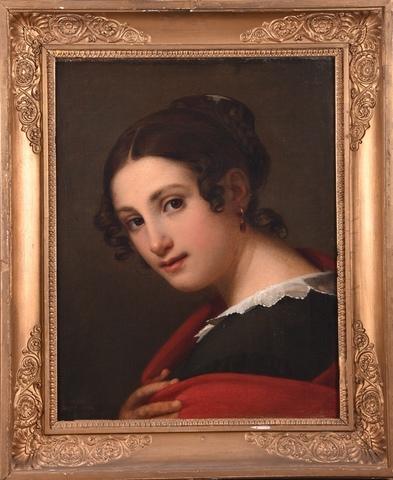 Portret van een jonge Italiaanse vrouw