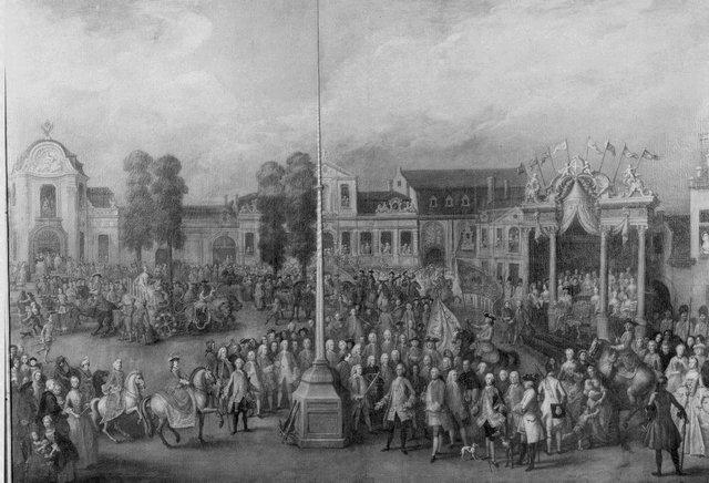 Karel van Lorreinen op de schieting van het Sint-Jorisgild te Gent in 1752