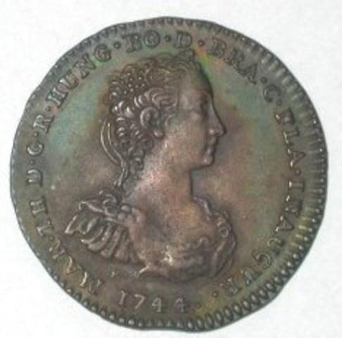 Inhuldigingspenning van Maria Theresia in Vlaanderen, 1744
