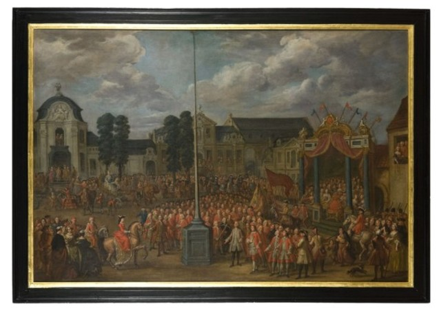 Karel van Lorreinen op de schieting van het Sint-Jorisgilde op de Kouter te Gent in 1752