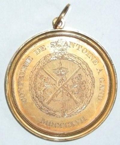 Erepenning van de St-Antoniusgilde aan P.J.D'Huyvetter, 1817