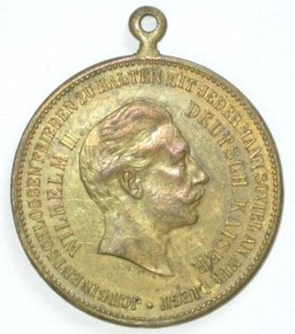 Gedenkpenning Duitse keizer Wilhelm II, (1914-1918)