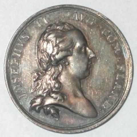 Rekenpenning van de Kasselrij van Ieper onder Josef II, (1782)