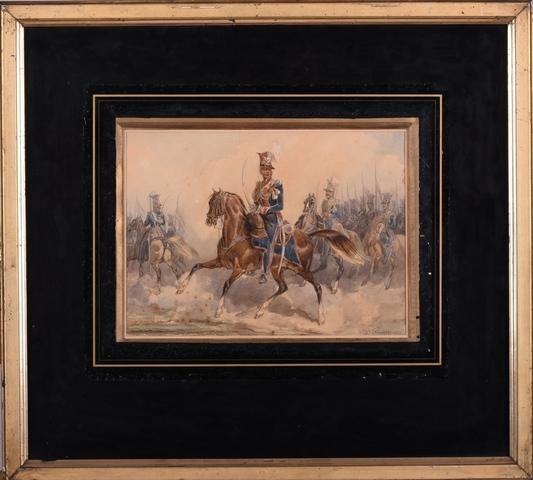 Prins Poniatowski en zijn huzaren te paard