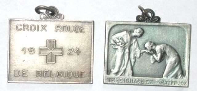 Erepenning vanwege het Rode Kruis, 1924