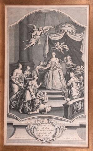 Maria Theresia als gravin van Vlaanderen, 1744