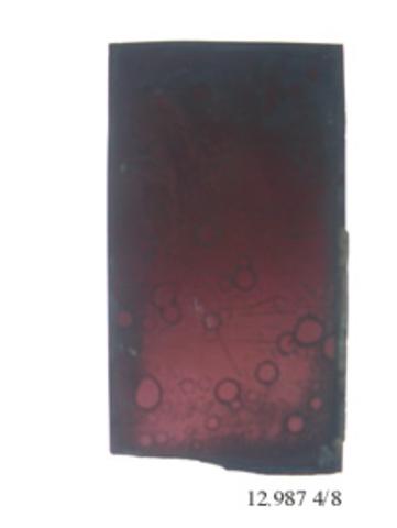 glasraamfragment, decoratieve motief