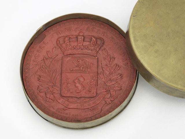 Wassen afdruk van de Medaille naar het Grootzegel van de Gentse Universiteit, 1819