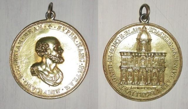 Gedenkpenning eerstesteenlegging van de Sint-Pietersabdijkerk, 1629