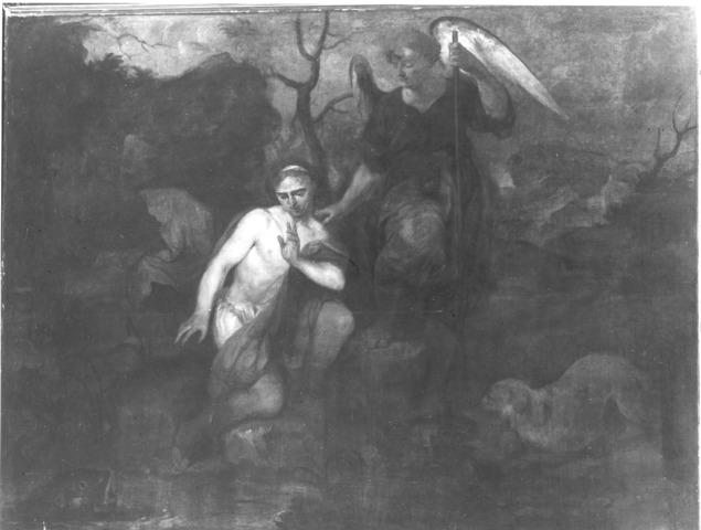 Tobias en de engel, Tobias vangt de wonderdoende vis