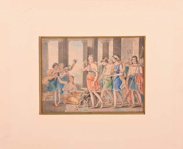 De Schone Anthia begeeft zich met haar gezellinnen naar de tempel van Artemis te Ephese