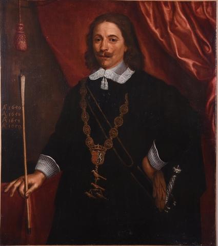 Portret van een koning van de Sint-Sebastiaansgilde Gent
