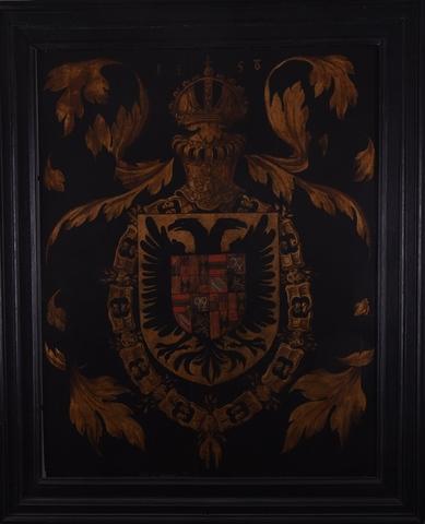 Blazoen met de wapens van Karel V