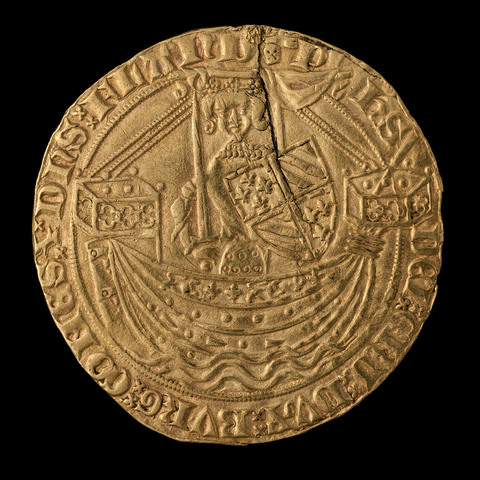 nobel (gebroken), Filips de Stoute, Brugge, Gent of Mechelen
