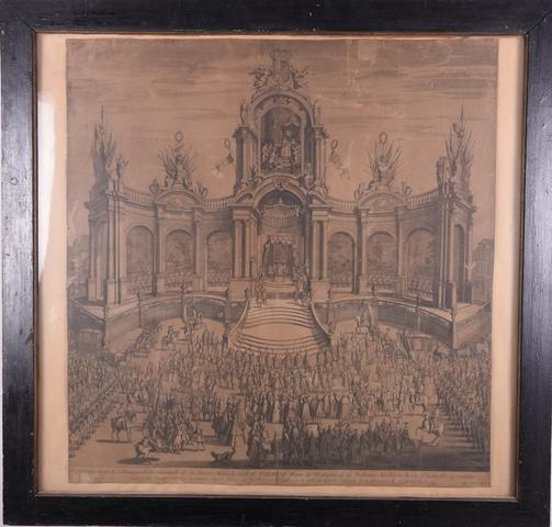Inhuldiging op de Vrijdagmarkt te Gent van Maria Theresia als gravin van Vlaanderen
