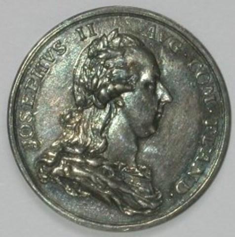 Zitpenning van de magistraat van Ieper onder Jozef II, (1785)