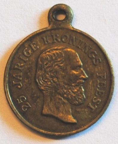 Gedenkpenning voor de 25ste kroningsverjaardag van Willem III, 1874