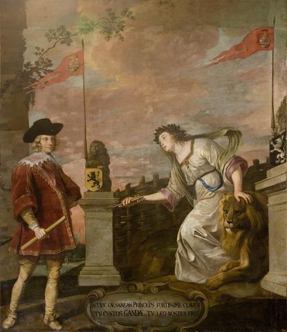 Kardinaal-Infant Ferdinand ontvangen door de maagd van Gent