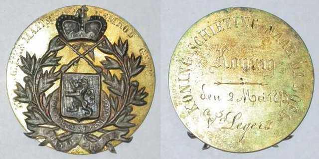 Prijspenning koningsschieting bij Nemrod aan V. Legers, 1875