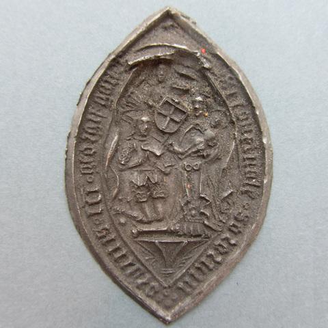 Afdruk van een zegelstempel van het Sint-Jorisgodshuis te Gent