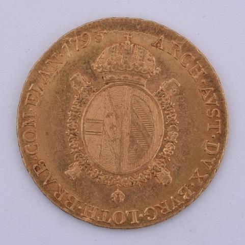 Halve souverein, Munthof Wenen, 1793, Frans II