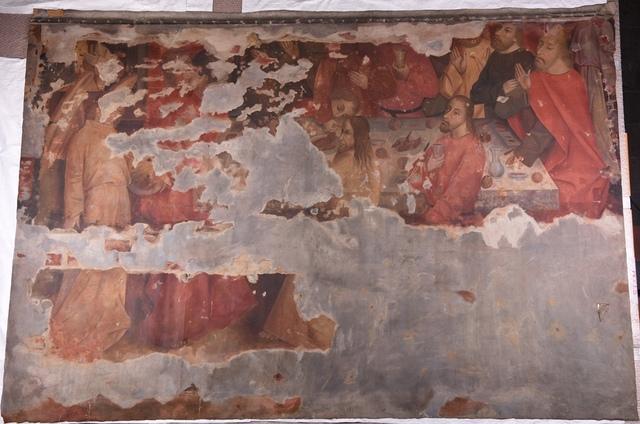 Het Laatste Avondmaal (muurschildering huis Spijkeboort)