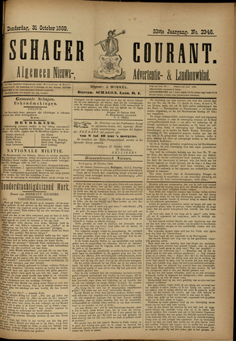 Schager Courant 1889-10-31