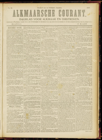 Alkmaarsche Courant 1919-03-17