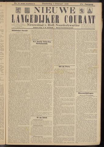 Nieuwe Langedijker Courant 1928-02-02